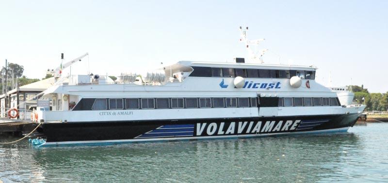 Monocarene e Catamarani Alilauro citta di amalfi