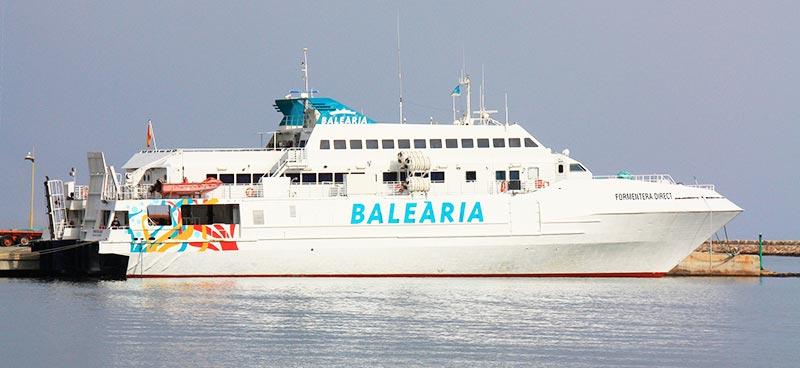 Mezzi Veloci Balearia formentera direct