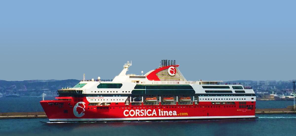 Nave Traghetto Corsica Linea danielle casanova