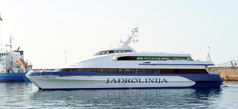 Monocarene e Catamarani Jadrolinija adriana
