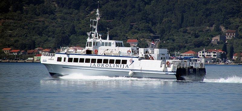Monocarene e Catamarani Jadrolinija olea