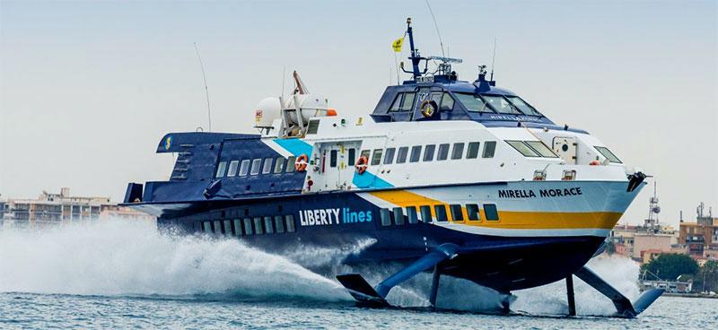 Aliscafi Liberty Lines mirella morace
