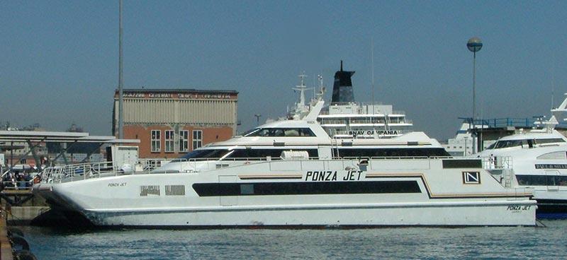 Monocarene e Catamarani Navigazione Libera del Golfo ponza jet