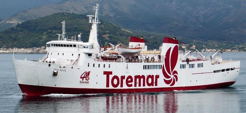 Nave Traghetto Toremar oglasa