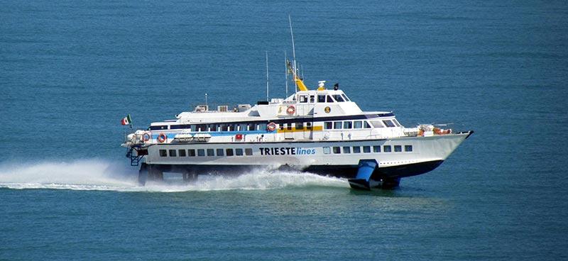 Aliscafi Trieste Lines rhs 160 calarossa